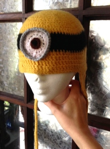 felted minion hat