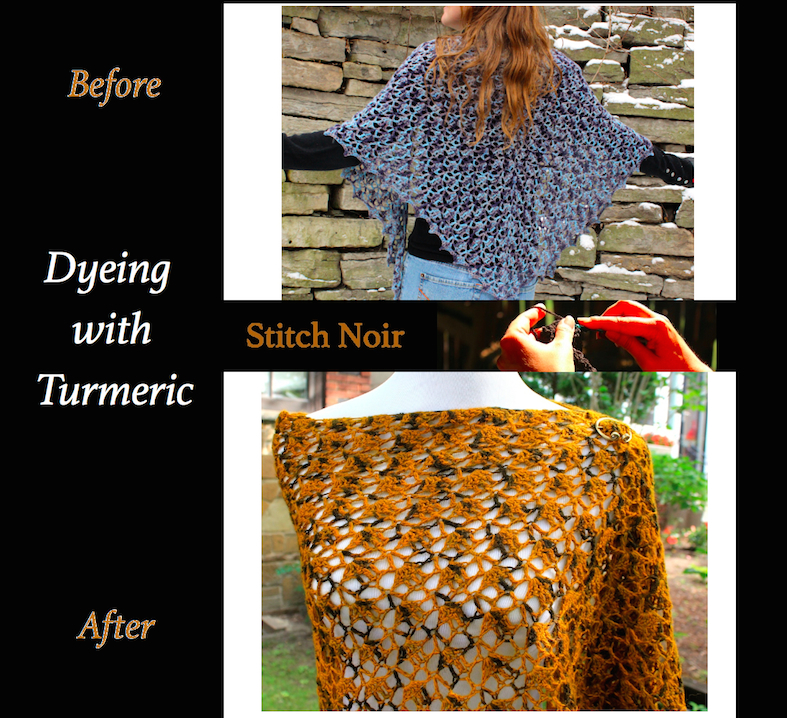 Dyeing Yarn Before & After Turmeric copy