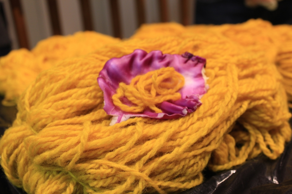 Trying to be artsy with my turmeric yarn!