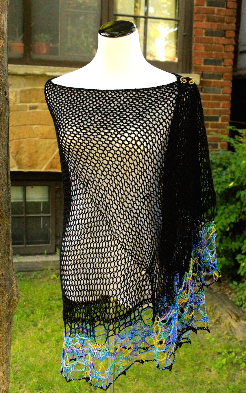 Chainmail stitch noir dark twisted fibre arts chainmail skull shawl with silk edging bankloansurffo Image collections