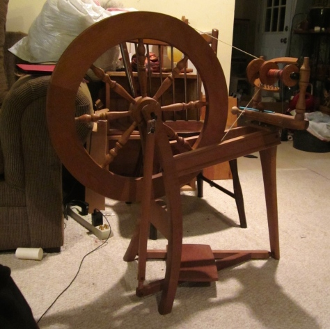 The Ashford wheel on which I learnt to spin