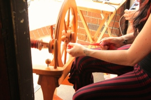 A quiet morning spent spinning on our porch