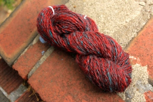 118 yards of handspun 2-ply merino/alpaca