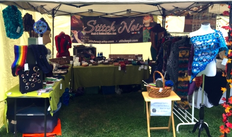 Stitch Noir booth at the Hamilton Pagan Harvest Festival