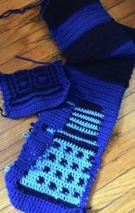 dalek tardis scarf