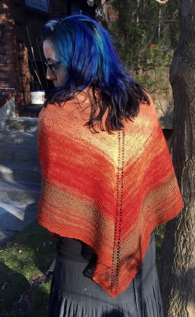 Hyrna, an Icelandic Shawl, & Continental Knitting